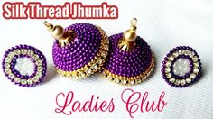 Silk Thread Jewelry I How to Do Ball Chain Jhumka at home I Tutorial for Beginners