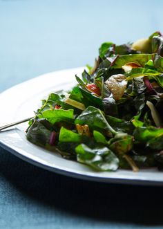 This quick and easy recipe for garlic-toasted rainbow chard can be used with just about any hearty green, such as kale, dandelion leaves or collard greens.