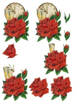 Printable to make 3D paper tole. Use it to make the motif for a handmade card.