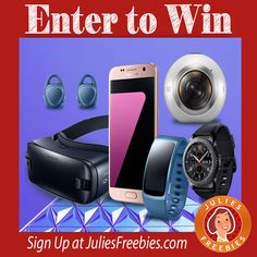 Facebook Twitter PinterestHere is an offer where you can enter to win a Samsung Prize Pack, from InTouch. PRIZES – (1) Grand Prize – 6 Samsung Devices, including a Samsung Galaxy S7, Gear VR Powered by Oculus, Gear 360, Gear S3 Frontier with 4G LTE, and Gear IconX. ENTRY – Daily Entry. ENDING – FebruaryView Deal