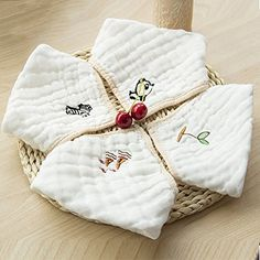 Organic Cotton Baby Bandana Drool Bibs And Burp Cloth For Drooling  Teething Soft and Stylish AntiSmell AntiBacterialGreat Baby Gift Sets 4Pack -- Check out this great product.-It is an affiliate link to Amazon.