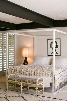 Moroccan wedding blanket- Black and white bedroom