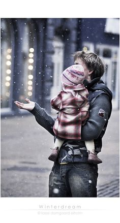 """It's called snow"" he explained seriously, ""it's cold and turns into water when it gets warm."" She touched his cheek with one tiny finger and said a single word. ""Silly."" ~Wendy Hamlet"