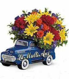 Order 48 Ford Pickup Bouquet flower arrangements from All Flowered Up Too, your local Lubbock, TX florist. Send 48 Ford Pickup Bouquet floral arrangement throughout Lubbock and surrounding areas. Father's Day Flowers, New Baby Flowers, Flowers For Men, Order Flowers, Flowers Online, Bouquet Flowers, Church Flowers, Bright Flowers, Gift Flowers