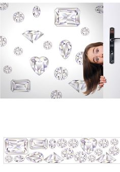 Girls Best Friend Diamond Peel And Stick Appliques   Wall Sticker Outlet