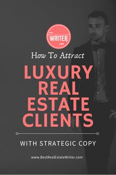 Want to become the premier luxury real estate agent in your market? You need to know how to write copy that will attract that high-end clientele. This will allow any real estate agent to transition into luxury faster and cheaper than ever before! Real Estate Career, Real Estate Leads, Real Estate Business, Real Estate Tips, Real Estate Sales, Real Estate Investing, Real Estate Marketing, Real Estate Tag Lines, Real Estate Office