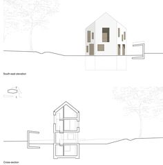 Image 16 of 16 from gallery of Two in One House / Clavienrossier Architectes. Elevation + Section