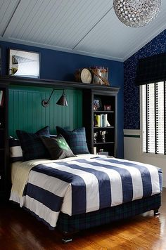 """sarah richardson sarah 101 boys bedroom green blue"" --boys bedroom? i want this for myself! lol :)"