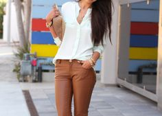 makes me want to try and pull off brown leather pants