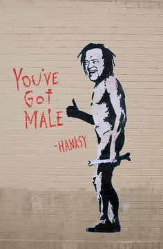 Street Art, Hansky: Tom Hanks, who started it all