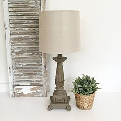 Tall French Provincial Table Lamp with Shade - Hallstrom Home - 1