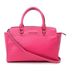 Michael Kors New Arrivals Satchel Leather Peach [Michael Kors 725] - $83.37 :