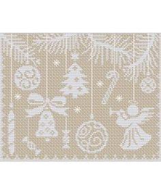 xmas ornaments cross stitch/try window screen cross stitch too