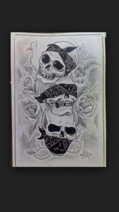 Bottom skull for Micheal tattoo Skull Tattoo Design, Tattoo Design Drawings, Tattoo Sketches, Evil Skull Tattoo, Skull Sleeve Tattoos, Evil Tattoos, Sugar Skull Tattoos, Omerta Tattoo, Bandana Tattoo