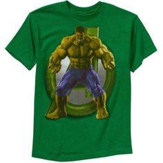 Marvel Avengers Hulking Boys' Graphic Tee, Size: 8, Green