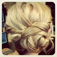 I would do this with my hair on my wedding day if I decided to do an up-do.