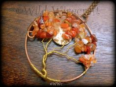 Autumn TreeWire Wrapped Tree of Life by WildWirecraft on Etsy