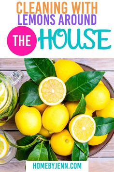 Cleaning with lemons will leave any area smelling fresh and clean. There are so many ways you can clean with lemons. I'm going to show you what to clean with lemons around the house. Lemons might just become your favorite cleaning tool! via @homebyjenn Cleaning Hacks, Cleaning Routines, Daily Routines, Getting Organized At Home, Organization Hacks, Organizing, All Purpose Cleaners, Fresh And Clean, Spring Cleaning