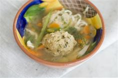 Passover Matzo Ball Soup gets an addition of spring vegetables to make it more filling.