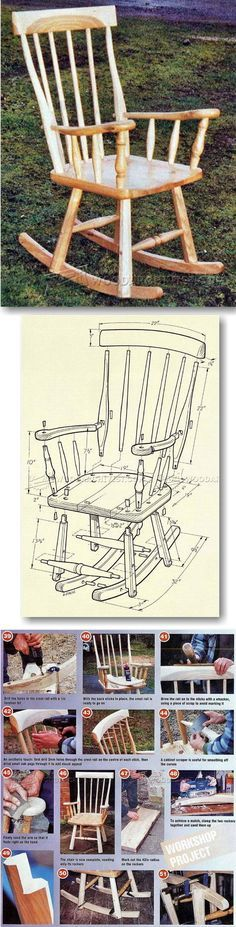 Shaker Rocking Chair Plans - Furniture Plans and Projects | WoodArchivist.com