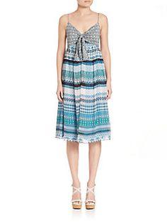 Diane von Furstenberg - Square Stamps Malina Dress