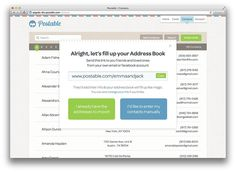 Postable's FREE address book -- makes collecting addresses super easy!