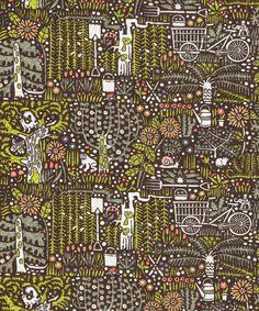 Guerrilla Gardening - Castile, by Liberty Art Fabrics