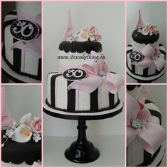 paris decorations for party | Paris Themed 50th Birthday Cake - by itsacakething @ CakesDecor.com ...