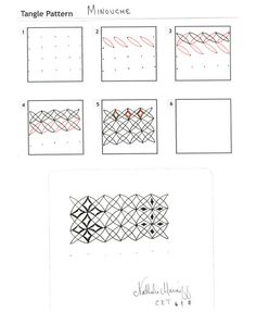 How to draw MINOUCHE « TanglePatterns.com - Pinned with Pin Anything from pin4ever.com