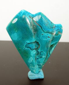 carved gem silica/malachte/chrysocolla by Jeannius Designs, via Flickr