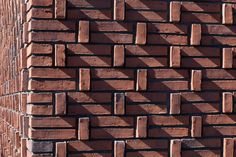 Brick facade in special pattern. design by: Attika Architekten Amsterdam tags: Architecture Brick Facade, Facade House, Brick Wall, Brick Design, Facade Design, Parrilla Exterior, Box Architecture, Facade Pattern, Brick Laying