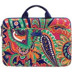Vera Bradley Neoprene Laptop Case in Venetian Paisley - products - Fashion Review Product