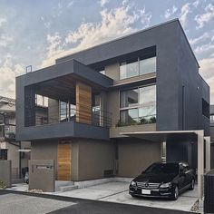 Modern Exterior House Designs, Exterior House Colors, Modern House Design, Interior And Exterior, Industrial House, House Rooms, Home Fashion, Architecture Design, House Plans