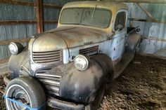 After resting for eight years in a barn in Perry County, Missouri, this 1941 Dodge pickup is ready to have something done with it. The seller suggests a hot rod or rat rod, but I think this could attract a. Old Dodge Trucks, Dodge Pickup, Old Pickup Trucks, 1st Gen Cummins, Dodge Cummins, Chrysler Trucks, Fargo Truck, Dodge Vehicles, Dodge Power Wagon
