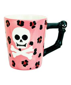 Pink Skull mug! I need this! Take a look at this Pink Witch Doctor Mug by Boston Warehouse on #zulily today!