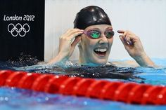 Missy Franklin set a new world record as she won gold in the women's 200m backstroke. (c) Al Bello/Getty Images