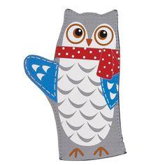 Owl Oven Mitt  #owl