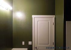 Army Green Guest Bathroom #sherwinwilliams #basquegreen #armygreen #olivegreen #bathroom