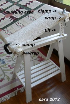 Tutorial to Make an Inexpensive Hand Quilting Floor Frame