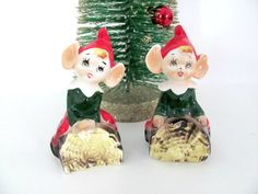Vintage 1960's Ceramic Pixie Elf Salt and by ThirstyOwlVintage, $28.50