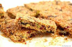 Pistachio & Quinoa Granola Bars - Cereal Bars with Pistachios & Keno Quinoa Granola Bars, Vegan Recipes, Cooking Recipes, Diet Recipes, Cranberry Almond, Sweet Bar, Cereal Bars, Dessert Recipes, Desserts