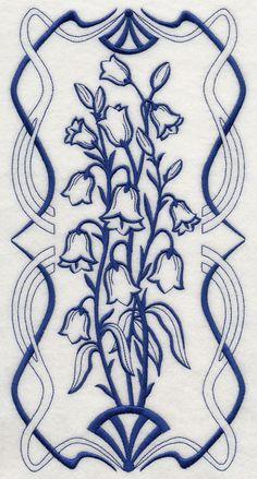 Art Nouveau Bellflower (Bluework)