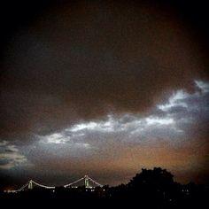 11 August 2013 - Bensonhurst #brooklyn #nyc #clouds #light #verrazano #bridge