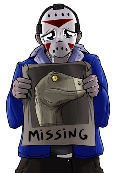 H2ODelirious with a missing poster of Clawz - RIP Clawz