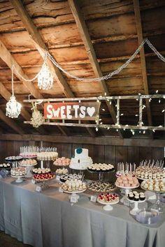 rustic wedding dessert table decoration ideas