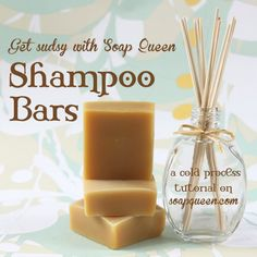 These shampoo bars are a biodegradable, packaging-free alternative to traditional liquid shampoos, and contain a mixture of several hair… Shampoo Bottles, Diy Shampoo, Homemade Shampoo, Shampoo Bar, Diy Savon, Savon Soap, Soap Making Recipes, Homemade Soap Recipes, Bar Recipes