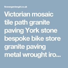 Victorian mosaic tile path granite paving York stone bespoke bike store granite paving metal wrought iron rail topiary hedge Wimbledon London SW19 | London Garden Design