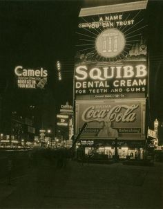 1934.. Oval or Circle Chevrolet-Trust-Squibb Dental Cream.. Delicious Coca-Cola.. Palais Royal