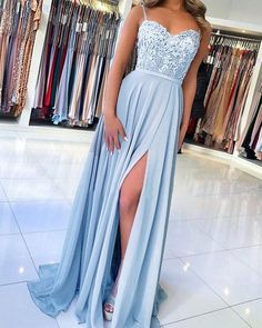 Pretty Prom Dresses, Straps Prom Dresses, A Line Prom Dresses, Event Dresses, Dress Prom, Light Blue Prom Dresses, Maxi Dresses, Light Blue Long Dress, Pastel Prom Dress