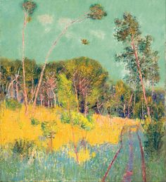John Russell A Clearing in the Forest, 1891 Oil on canvas 61 × cm Art Gallery of South Australia, Adelaide A. Ragless Bequest Funds 1968 © Art Gallery of South Australia, Adelaide Australian Painting, Australian Artists, Matisse, John Peter, National Gallery, Google Art Project, Forest Art, Paris, Stretched Canvas Prints